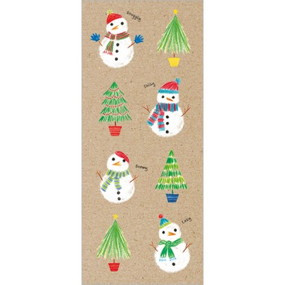 Snowmen and Trees Christmas Cards