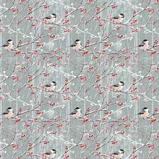 Birds and Berries gift wrap