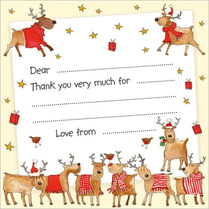 Rudolph and Friends Christmas Thank You Notecards