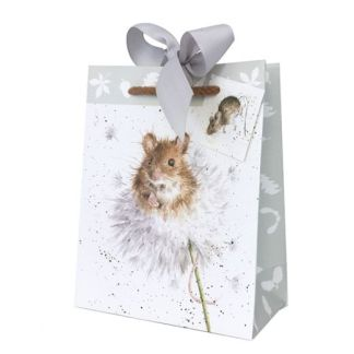 Wrendale Mouse on a Dandelion gift bag