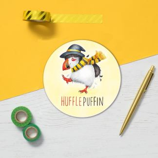 Huffle Puffin coaster