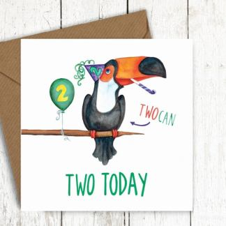 Two today toucan birthday card