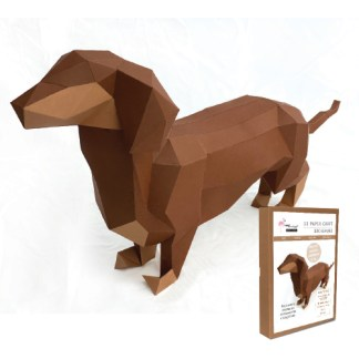 Dachshund paper craft kit