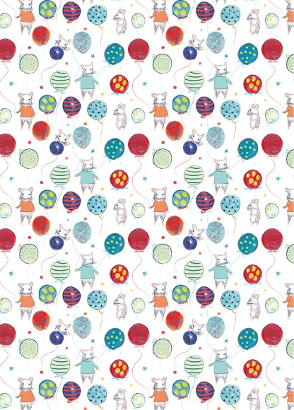 Party mice gift wrap