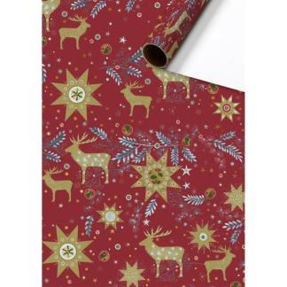 Scandi Reindeer Roll Wrap 2m