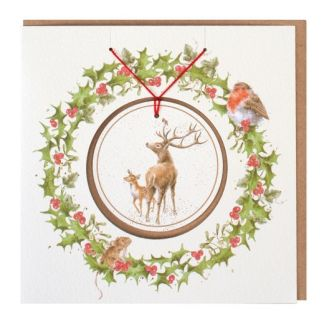 The Stars in the Bright Sky Christmas Decoration Card
