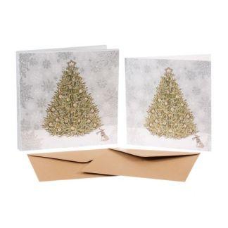 Christmas Tree Christmas cards set