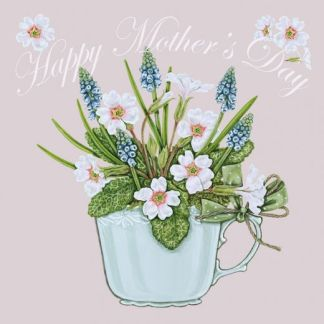 'Happy Mothers Day' Primroses card