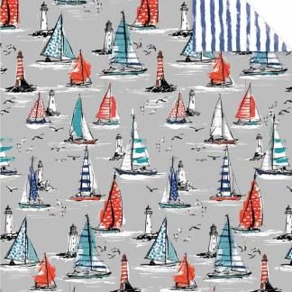 Sketchbook Boats Gift Wrap