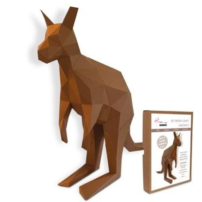 Kangaroo papercraft kit