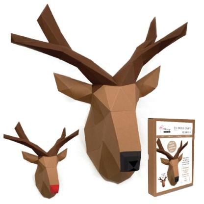 Reindeer papercraft kit