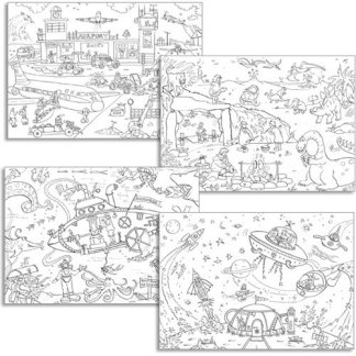 Colour in Poster set of 4