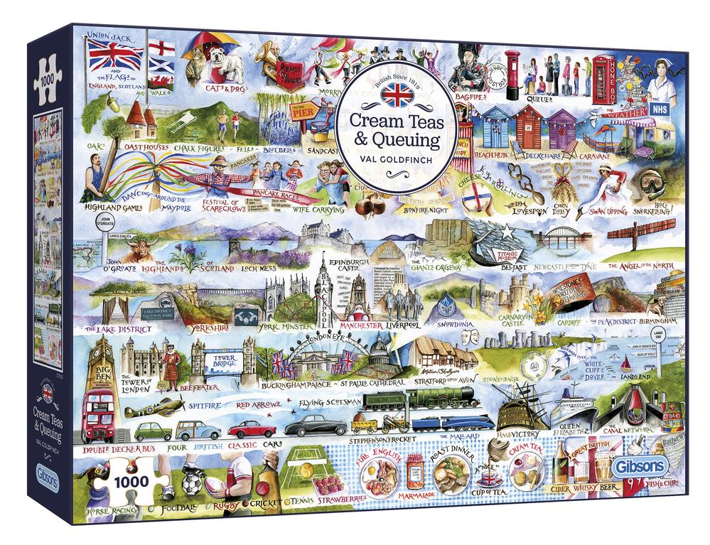 Cream Teas and Queuing 1000 piece Val Goldfinch