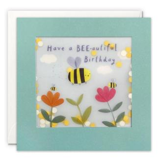 Bee Birthday Shakies Card