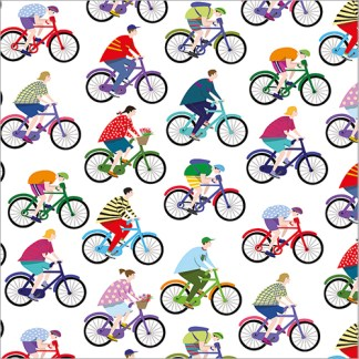 Colourful Bicycles gift wrap