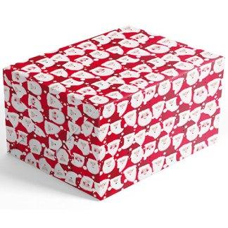 Red Santas gift wrap
