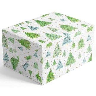 Festive Trees gift wrap