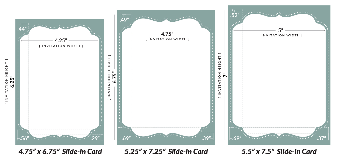 Clip arts related to : Bracket Invitation Slide In Card