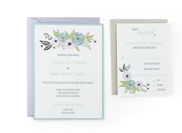 Algodon  Free Wedding Invitation Template