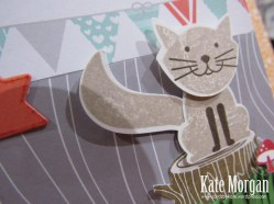 Foxy Friends, Kitty Cat, 7th Birthday, DIY, #stampinup, Handmade Card