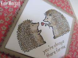 Love You Lots, Hedgehogs, Feminine Birthday Card, #stampinup, @cardsbykate, DIY