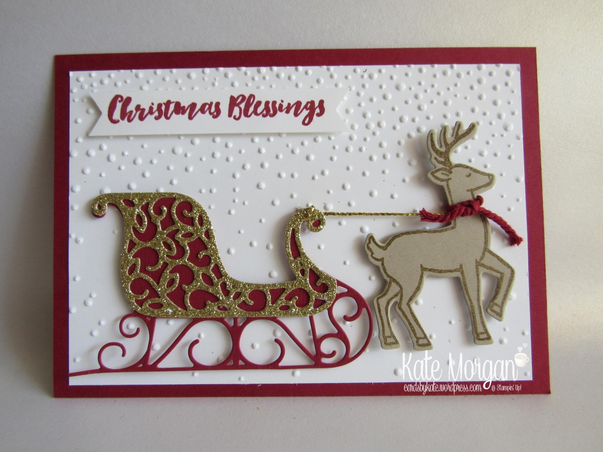 Sleigh In Snow Kate Morgan Independent Stampin Up