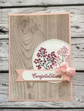 Beautiful Bouquet stamp set & Wood Textures DSP, Bitty Bows, Dragonfly Dreams by Kate Morgan, Independent Stampin Up Demonstrator Australia
