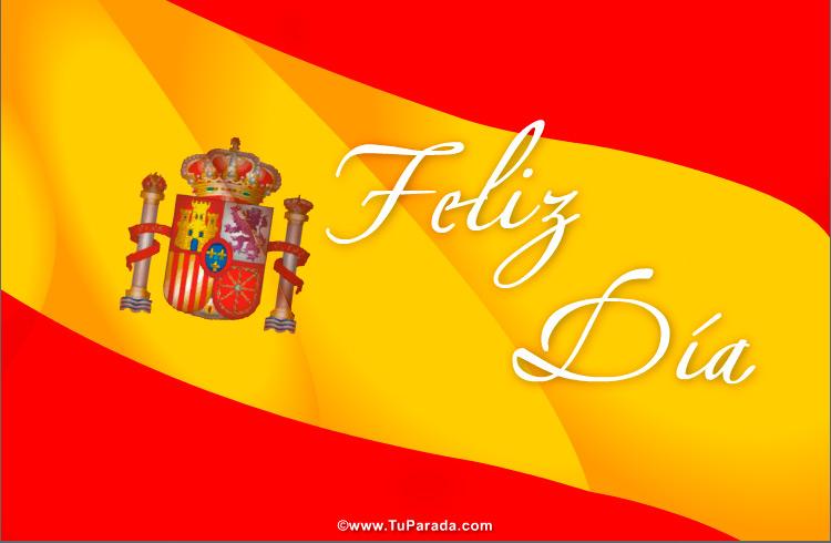 Fiestas De España Tarjetas De La Bandera Española