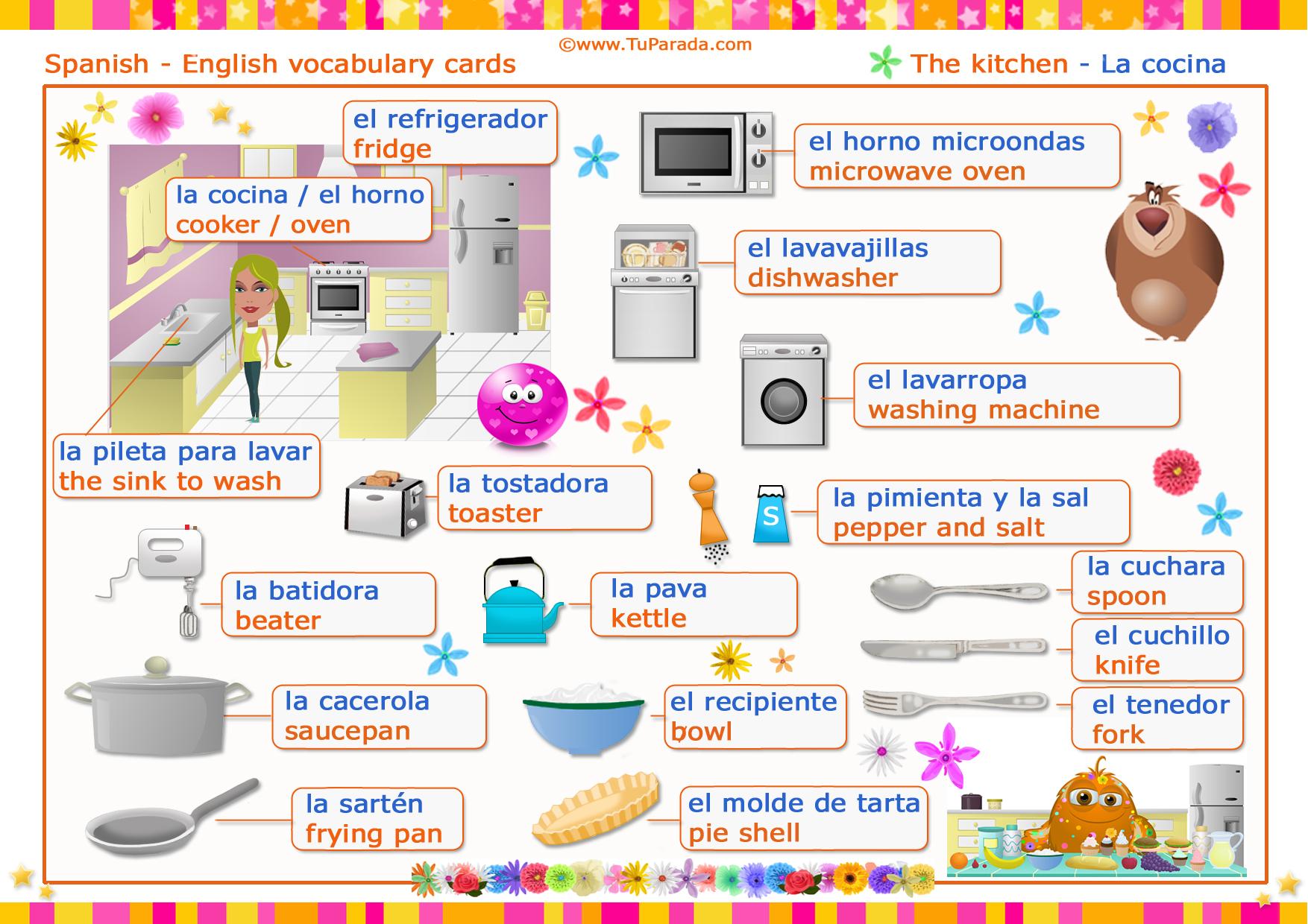 Vocabulario Cocina