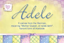 Adele Name Meaning Name Adele origin Meaning of the name ...