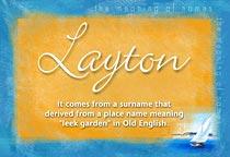 Layton Name Meaning - Layton name Origin Name Layton ...