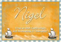 Nigel Name Meaning Nigel Name Origin Name Nigel