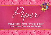 Piper Name Meaning Piper Name Origin Name Piper