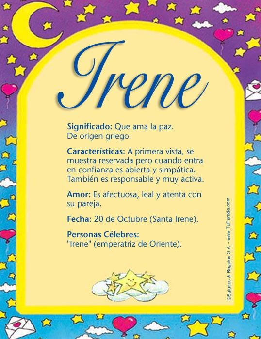 Irene Significado De Irene