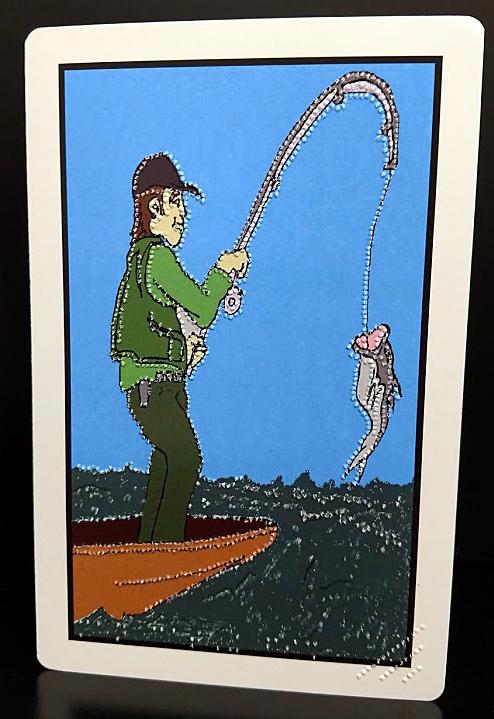 Birthday Fishing Card Outside