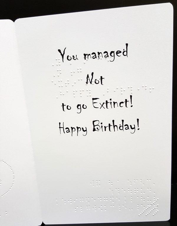 Dinosaur Card Inside