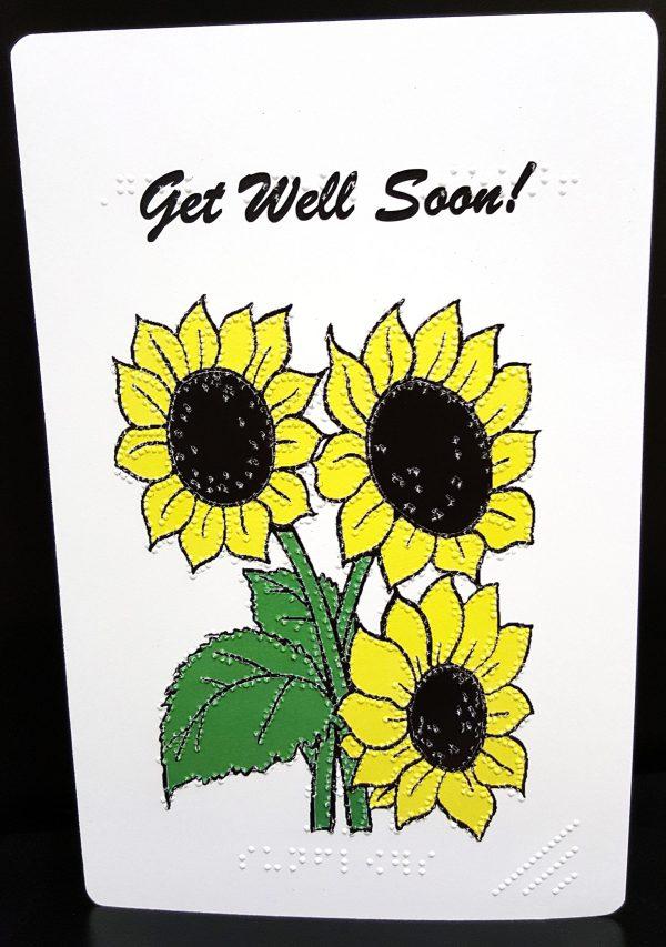 Sunflower Get Well Card Outside