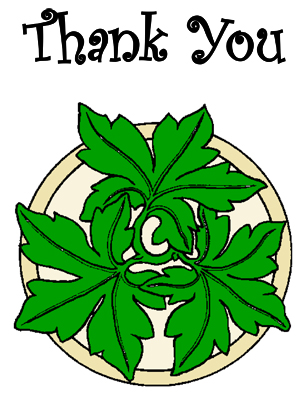 Mandala Thank You Card
