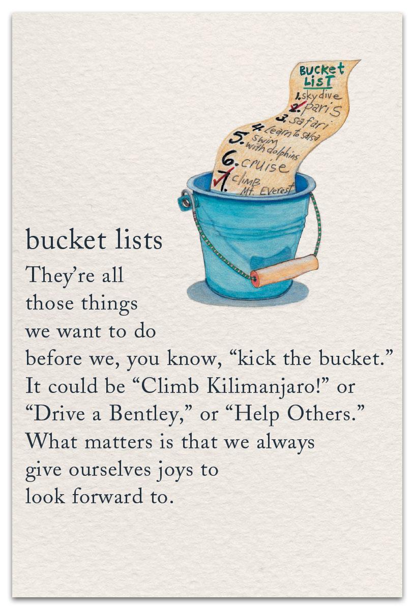 Bucket List Birthday Card Cardthartic Com