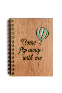 Come Fly Away wood journal