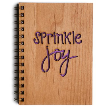Sprinkle Joy wood journal