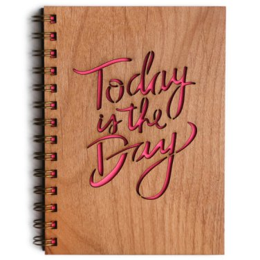 Today is the Day wood journal