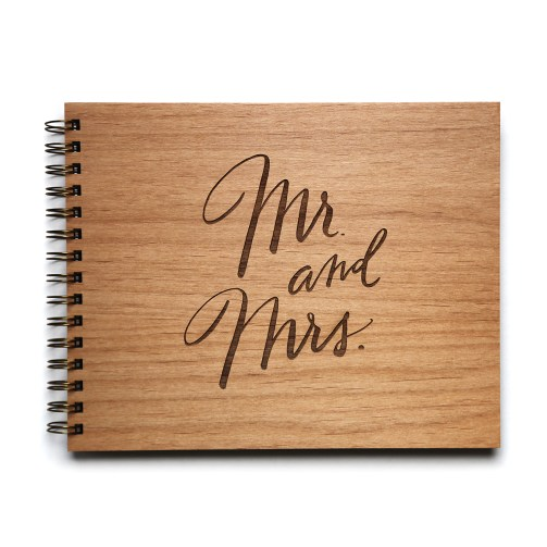 Mr. and Mrs. wedding guestbook