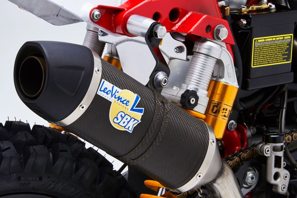 Leo Vince muffler on the SC3 Gera Baja dual sport motorcycle