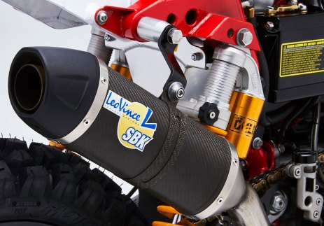 Leo Vince muffler on the SC3 Gera Baja dual sport motorcycle
