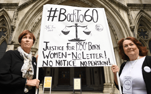 State pension changes discriminate against women born in 1950s, court hears 7