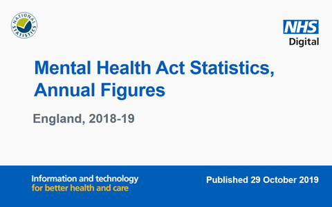 Report: NHS Digital - Mental Health Act Detentions Annual Figures - England 2018-19 1