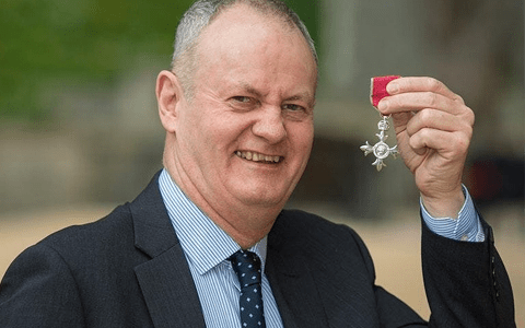 Campaigner calls for greater awareness of domestic abuse as he is awarded with MBE