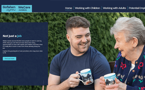 New website aims to support growing demand for care workers in Wales