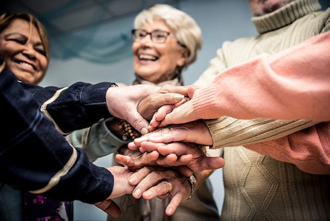 Elderly support group reduce suicide risk